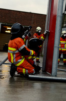 Compartment Fire Behavior Training, BFD recruits.